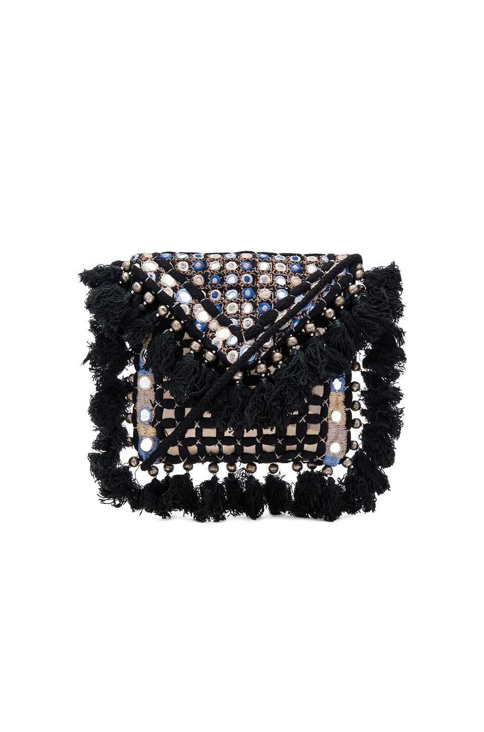 SHASHI Carmen Clutch in Black