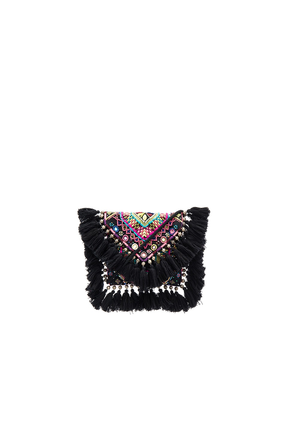 SHASHI Tatiana Clutch in Black