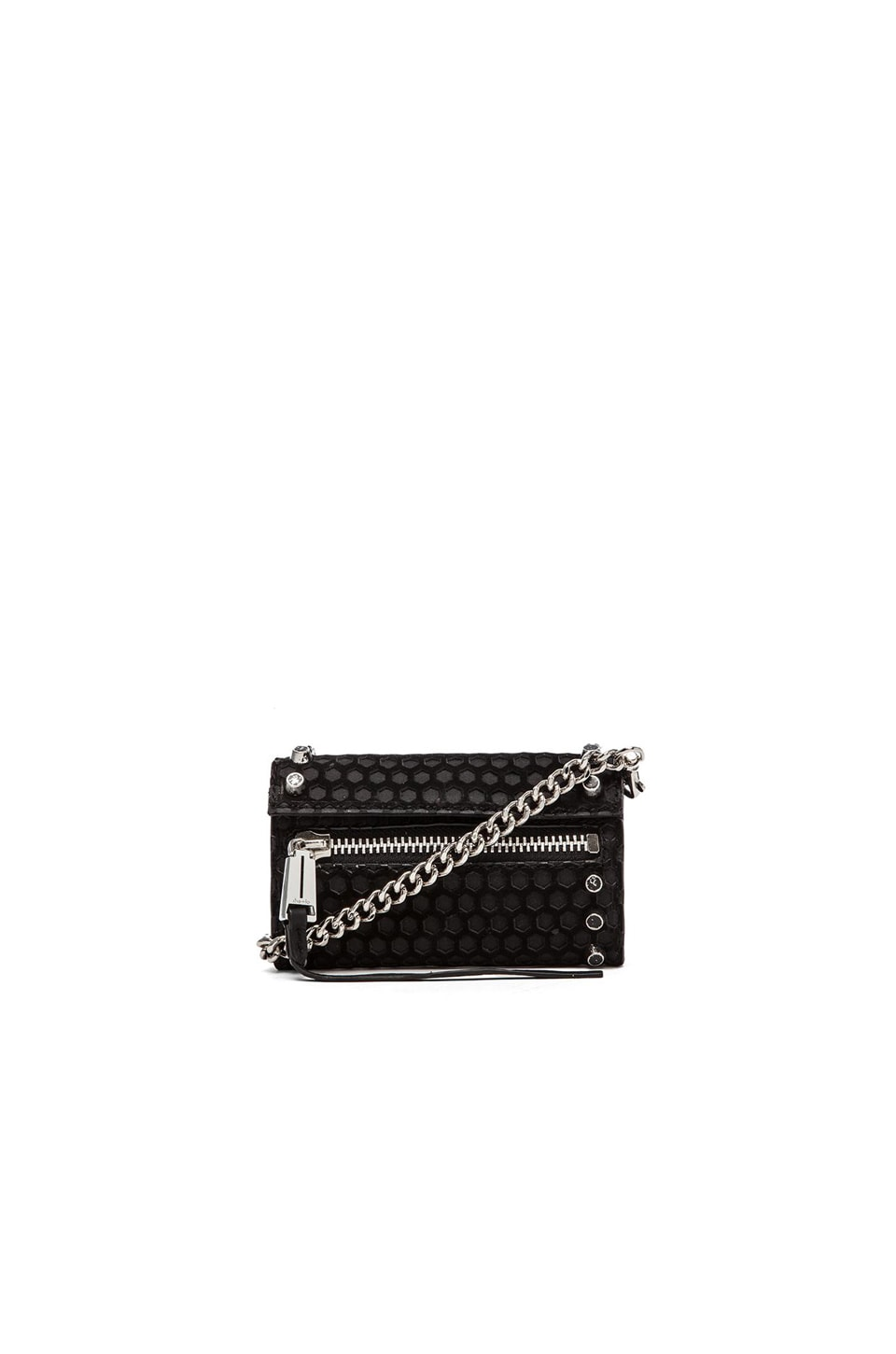 she + lo Breakthrough Mini X Body Bag in Black Perf