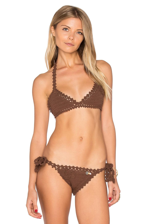 Crochet Triangle Bikini Top by She Made Me