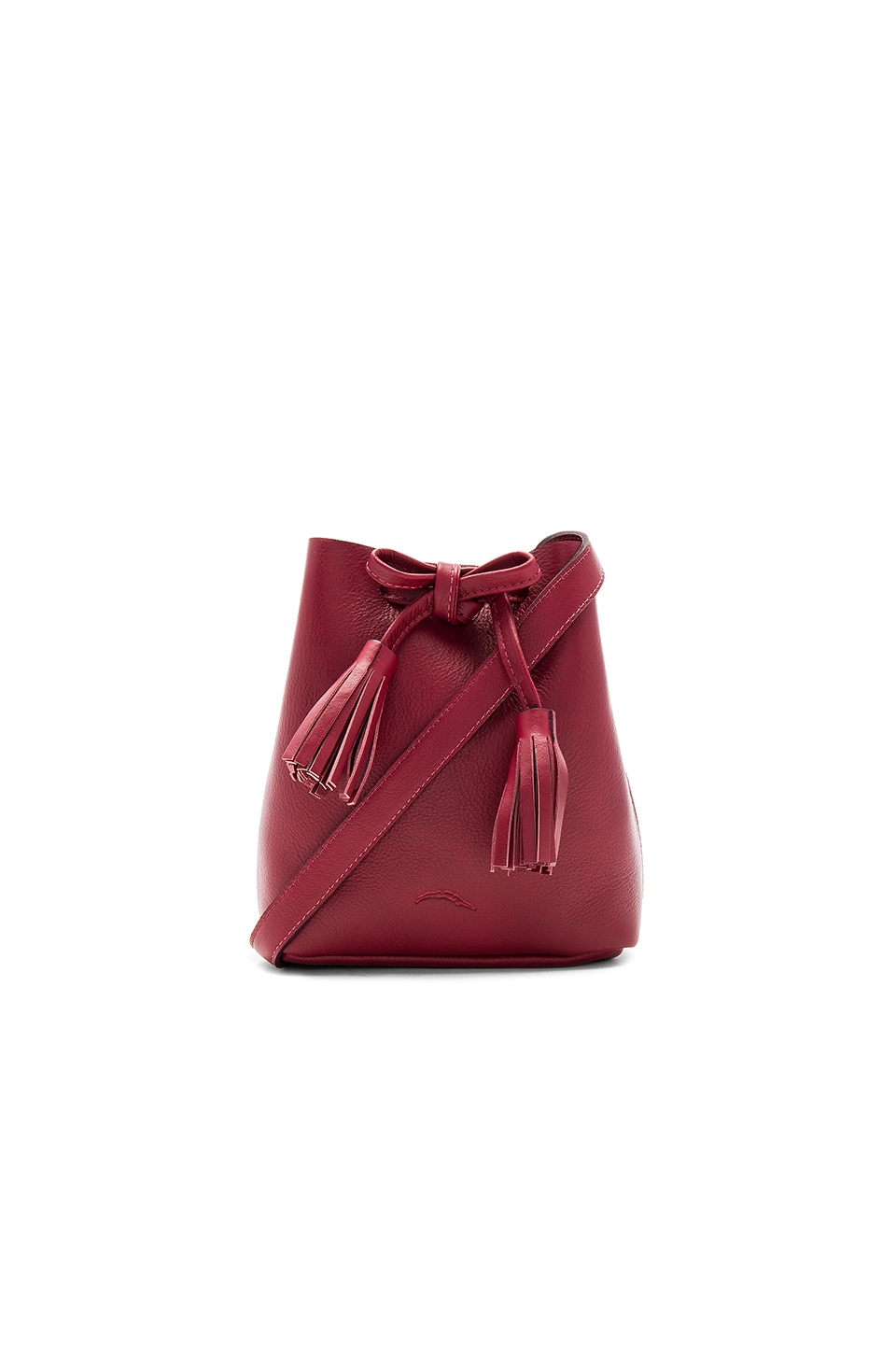 Shaffer Greta Bucket Bag in Merlot