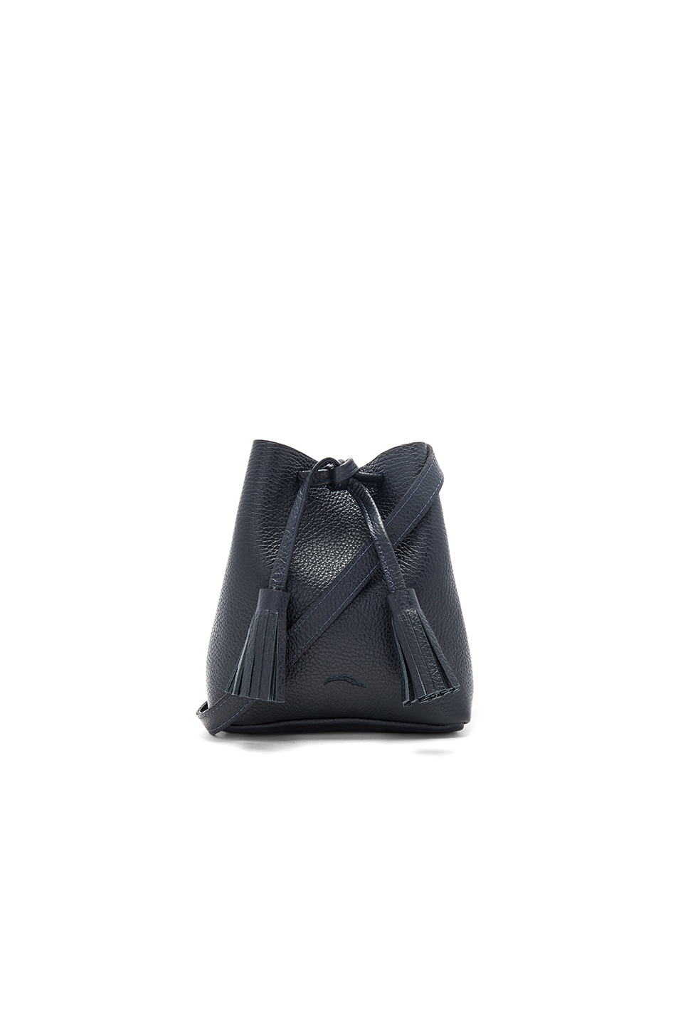 Shaffer Greta Bucket Bag in Pebbled Navy