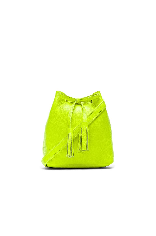 Shaffer The Greta Bucket Bag in Fluorescent Yellow