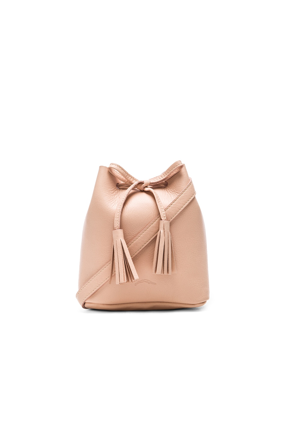 Shaffer The Greta Bucket Bag in Blush