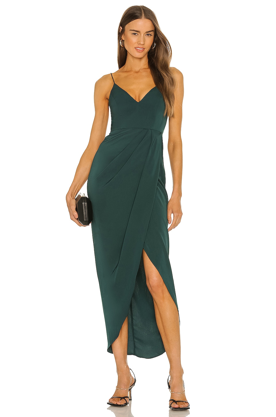 Shona Joy Cocktail Draped Dress in Seaweed | REVOLVE
