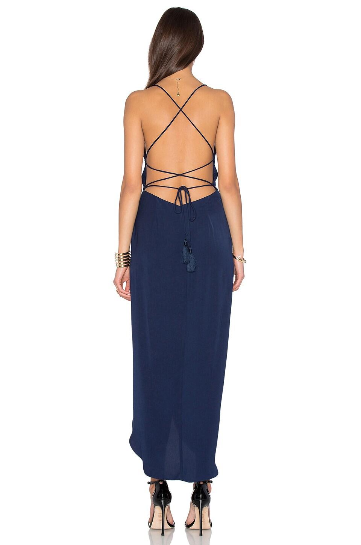 21563011e00 Shona Joy Leticia Lace Up Cowl Maxi Dress in Navy
