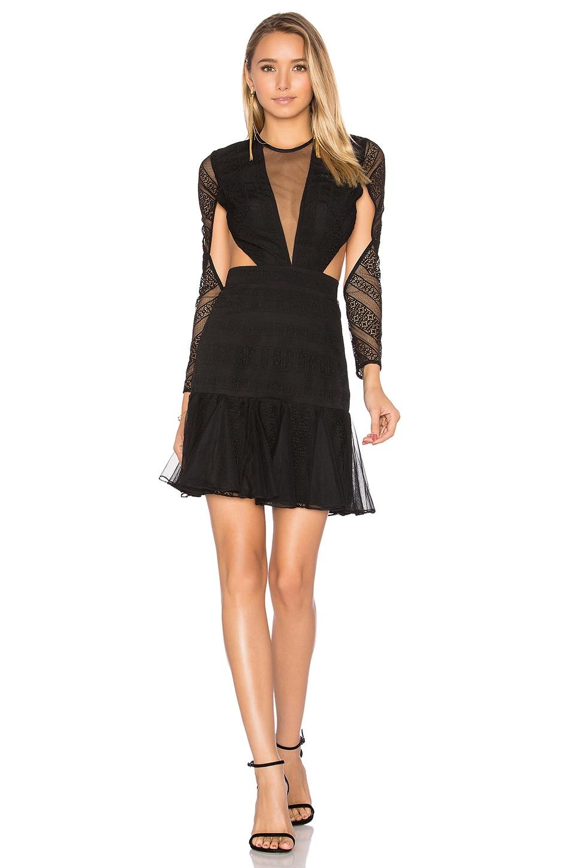 Moliere Long Sleeve Backless Mini Dress by Shona Joy