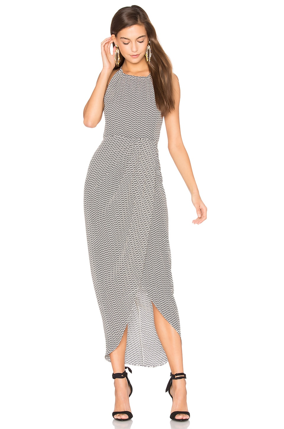 Etienne High Neck Ruched Maxi Dress by Shona Joy