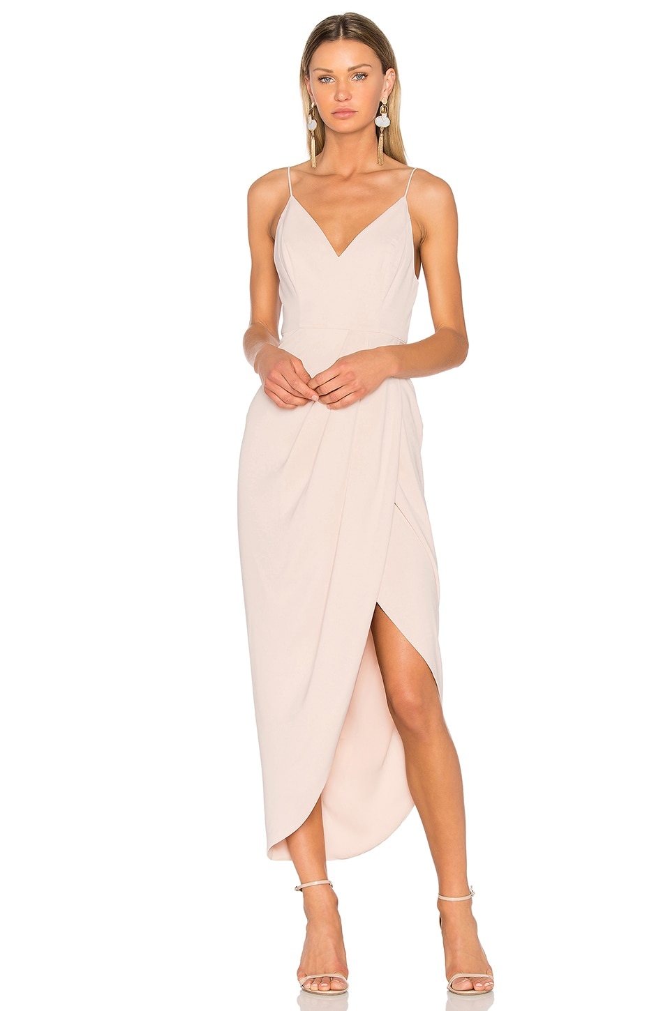Shona Joy Cocktail Draped Dress in Ballet