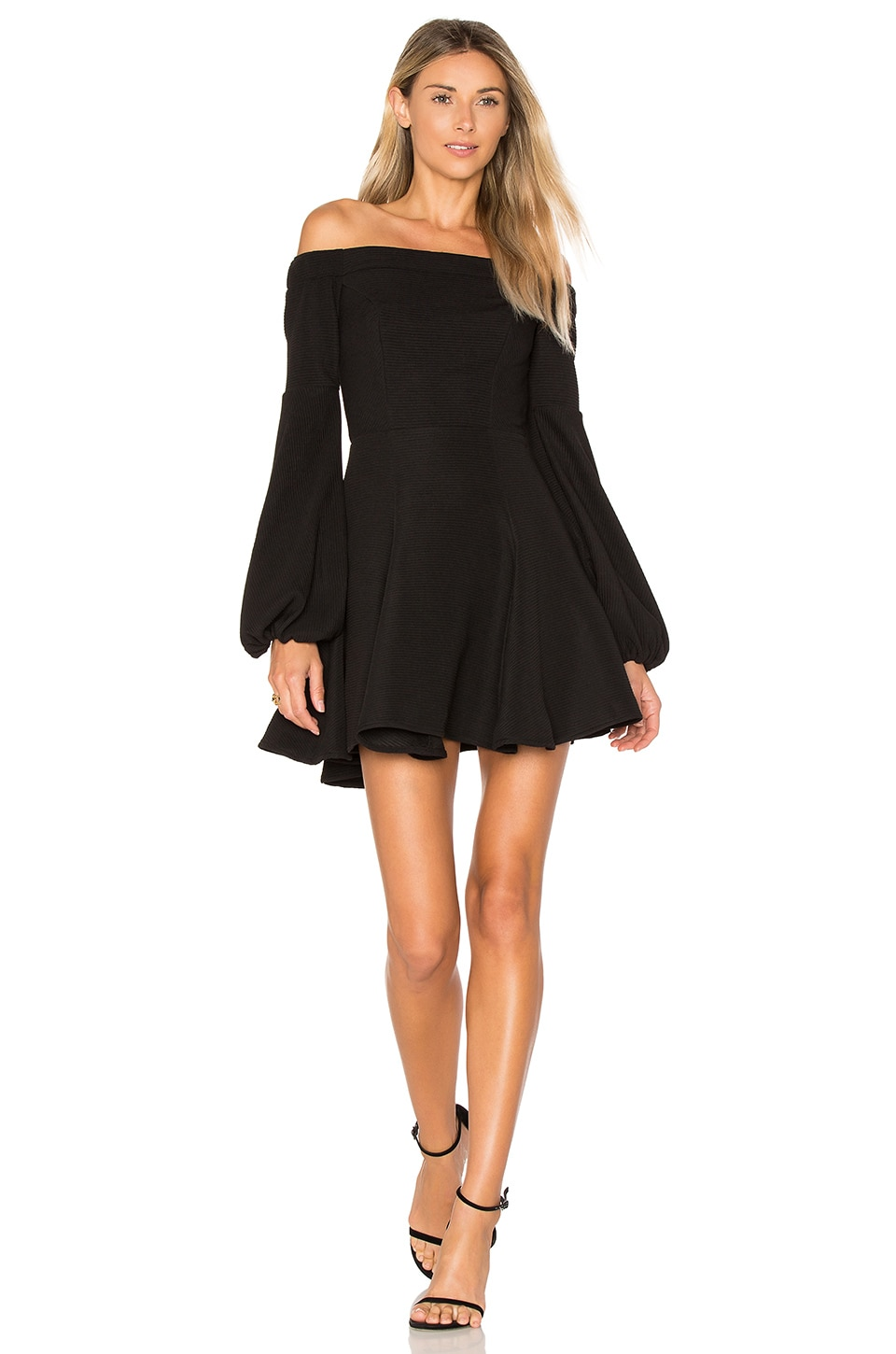 Shona Joy Lori Mini Dress in Black