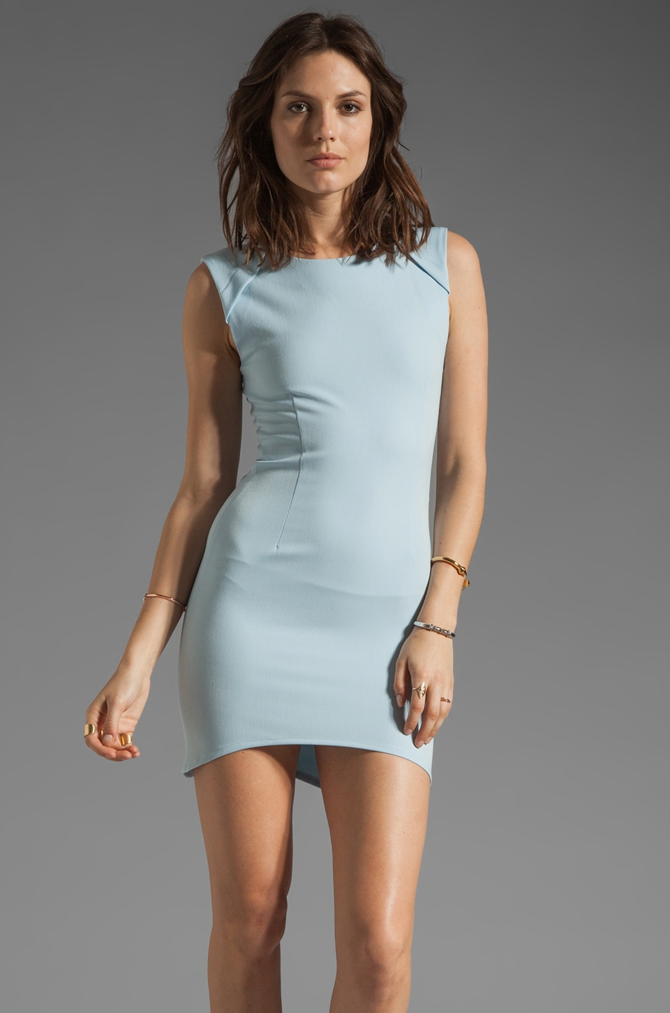 Shona Joy Right of Passage Body Con Dress in Powder Blue