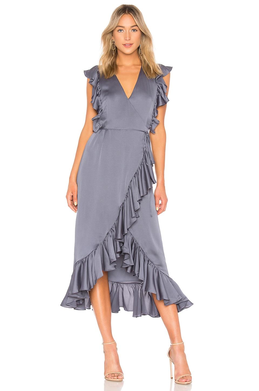 Luxe Ruffle Wrap Midi Dress