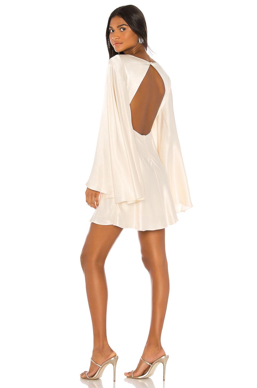 Shona Joy Jefferson Circle Sleeve Backless Mini Dress in Cream