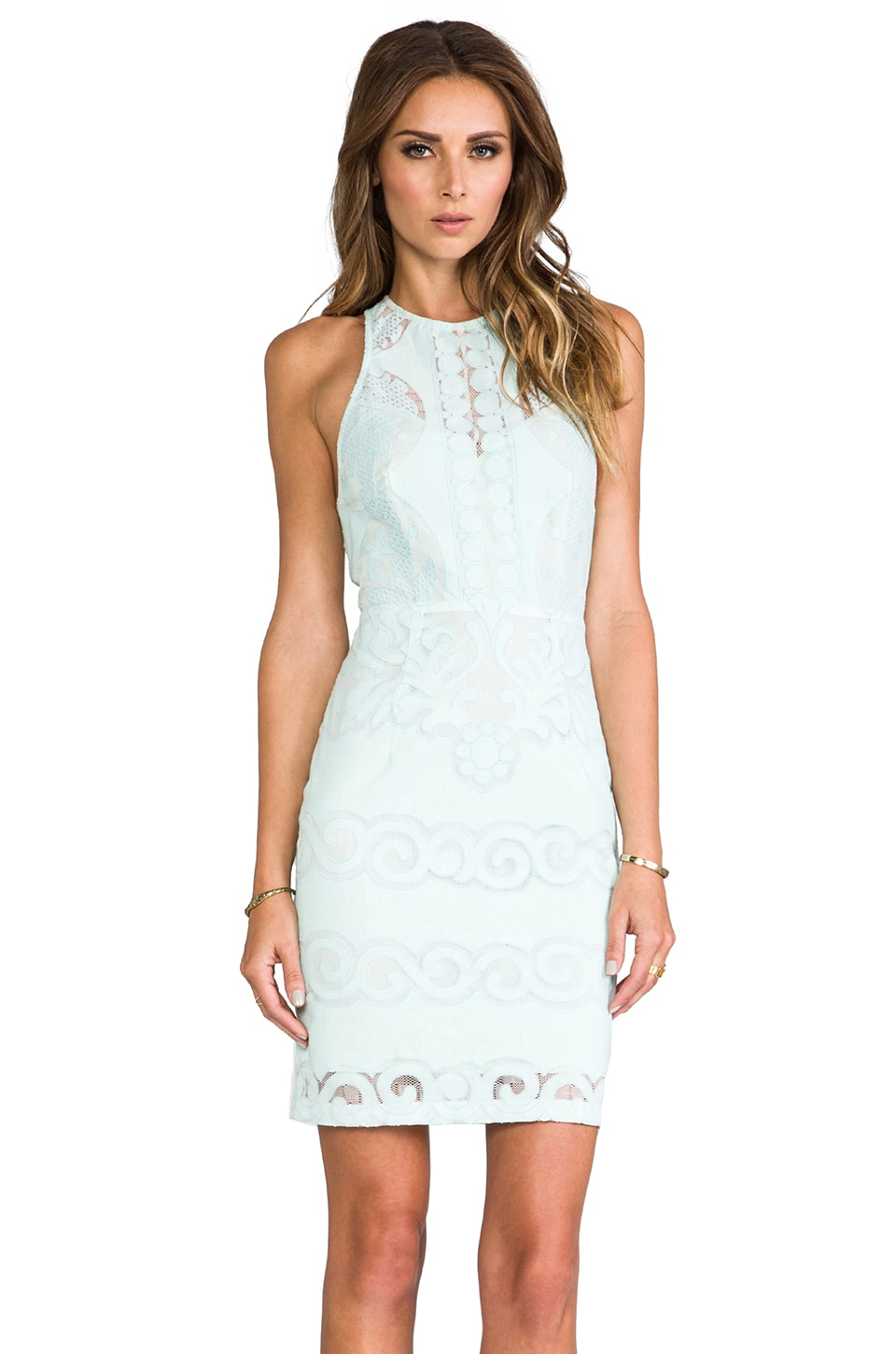 Shona Joy Mirage Cocktail Dress in Mint