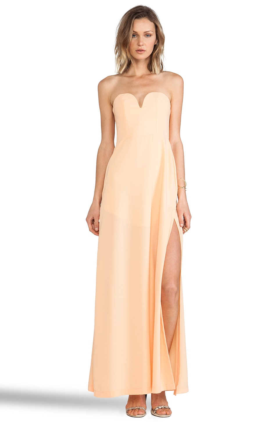 Shona Joy The Wanderer Maxi Dress in Apricot