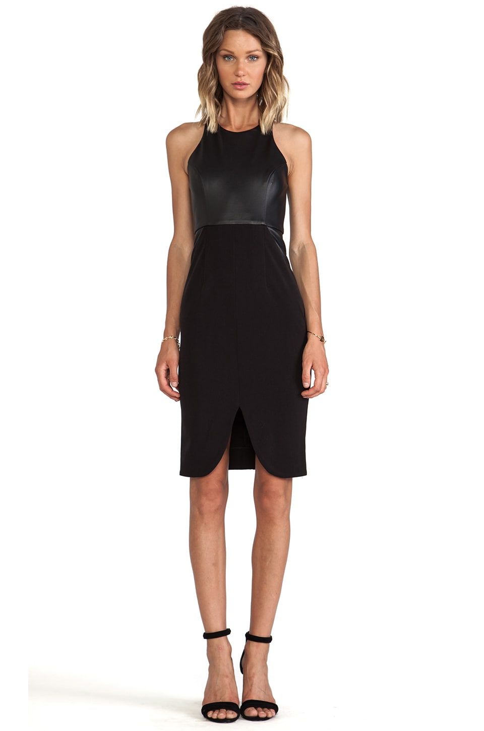 Shona Joy Derailed Midi Dress in Black