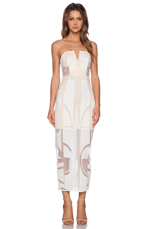 Shona Joy Seidler Bustier Midi Dress in Ivory