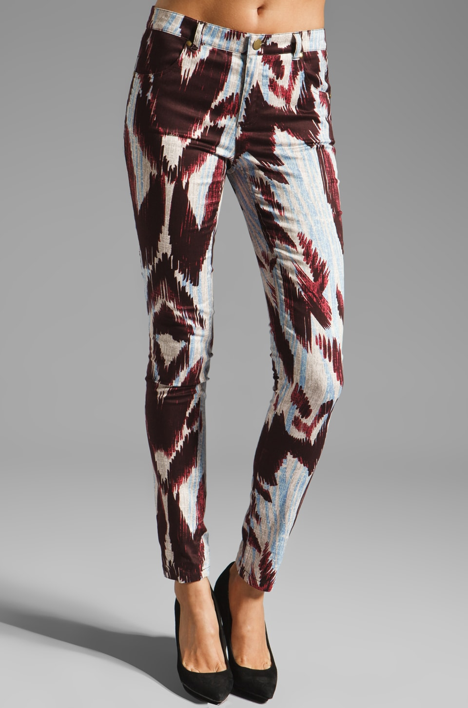Shona Joy Natural Wonder Printed Pant in Raisin/Sky