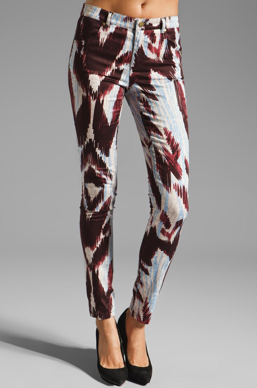 Shona Joy Natural Wonder Printed Pant in Raisin/Sky