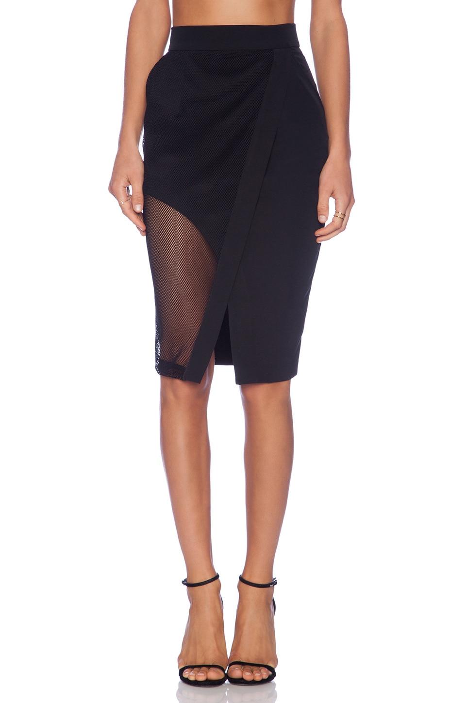 Shona Joy The Caged Wrap Skirt in Black