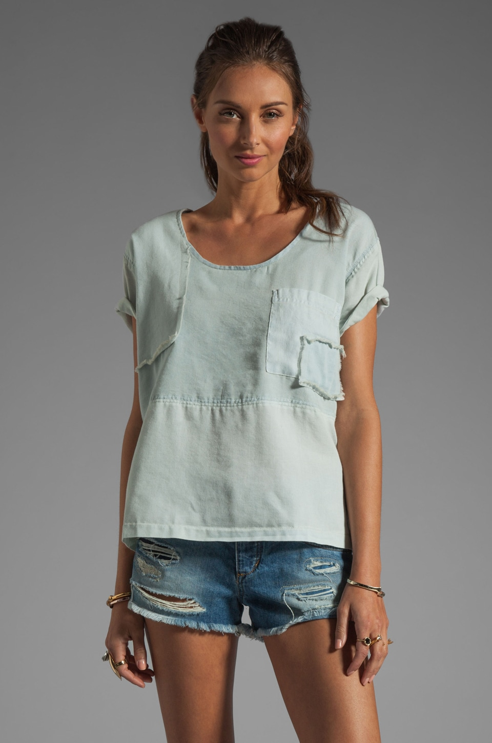 Shona Joy Go Your Own Way T-Shirt in Chambray