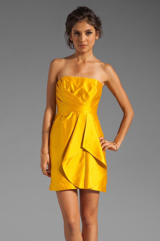 ba4954d7a9a98 Shoshanna Silk Gazar Orly Dress in Yellow Topaz | REVOLVE