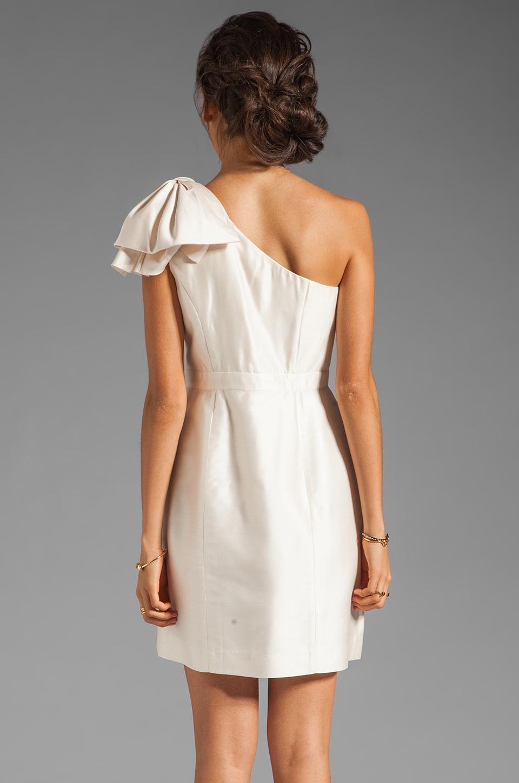 Shoshanna Silk Gazar 2 Amber Dress in Winter White