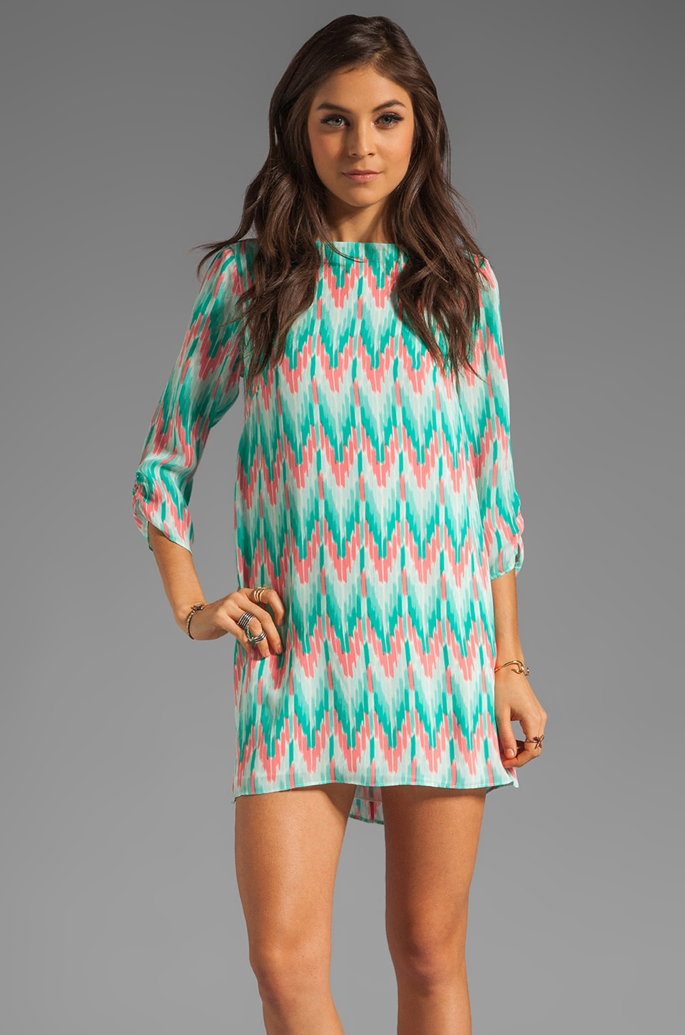 Shoshanna Tara Dress in Cascade Ikat