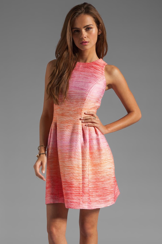 Shoshanna Julia Freya Dress in Peach Multi