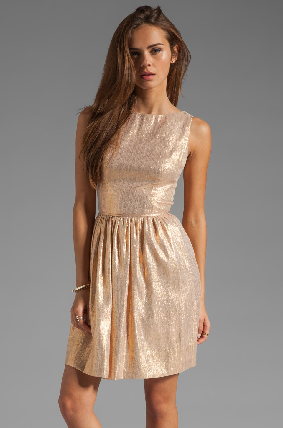 Shoshanna Tillie Dress in Rose Gold