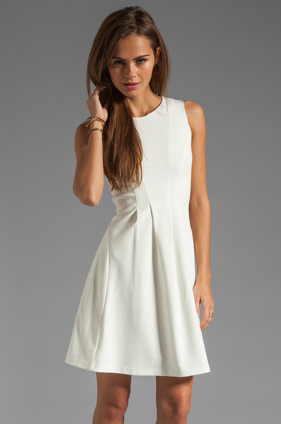 Shoshanna Thalie Dress in Ivory