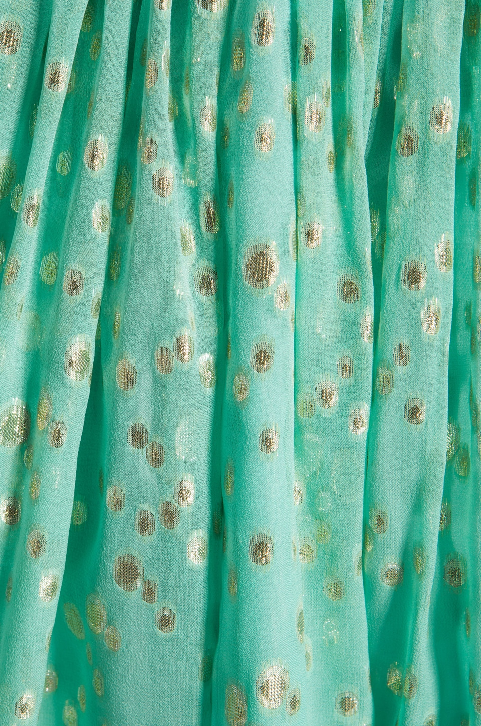 Shoshanna Rayna Dress in Aqua/Gold