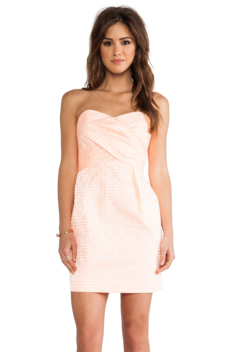 Shoshanna Kira Dress in Neon Guava