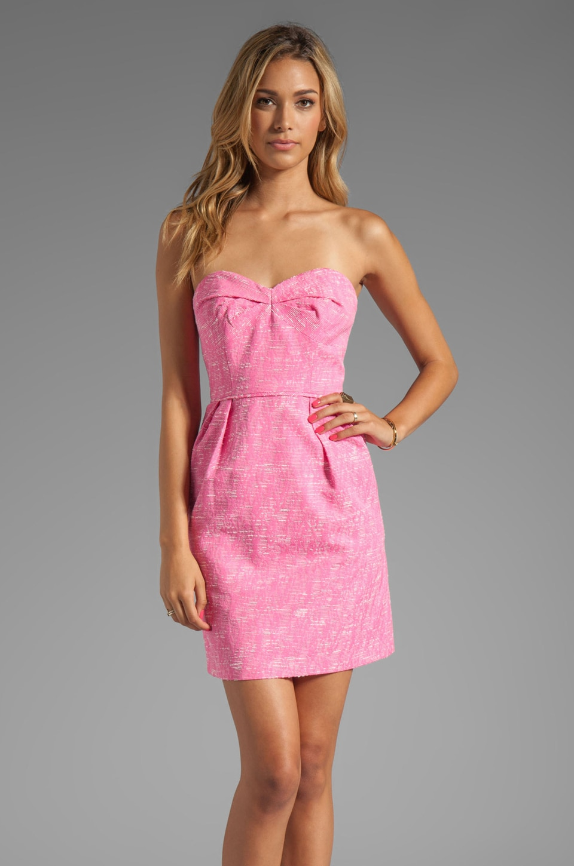 Shoshanna Bahia Jacquard Reilly Dress in Pink Sorbet