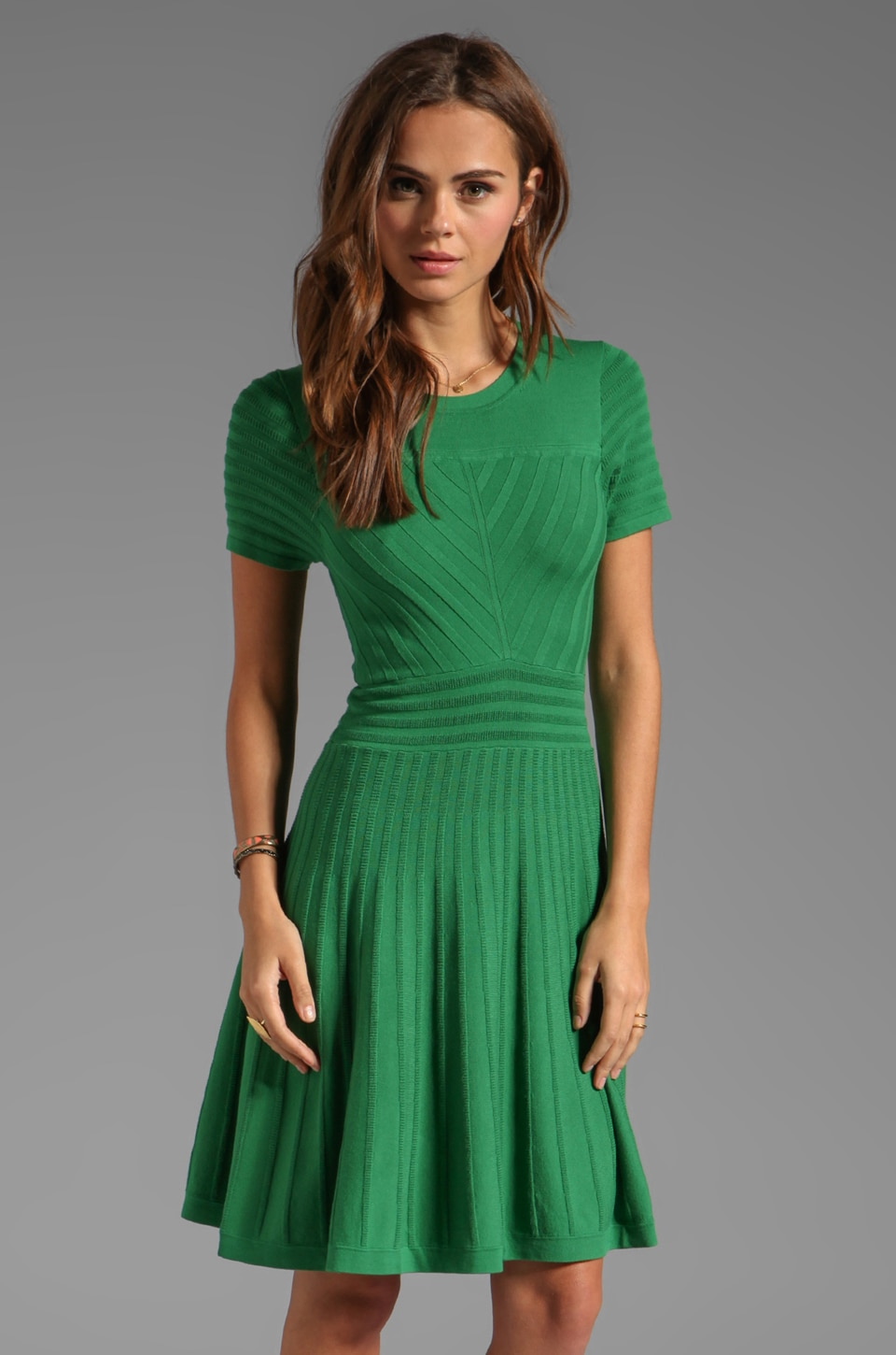 Shoshanna Margot Sweater Dress in Grass