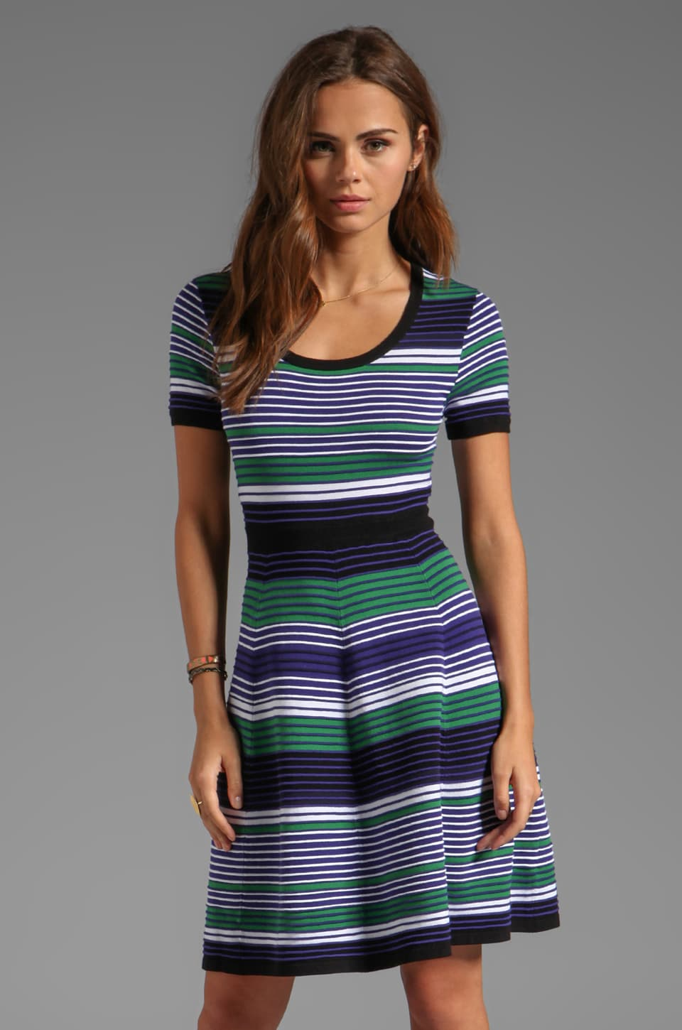 Shoshanna Pre-Fall Sweaters Striped Aviva Dress in Multi
