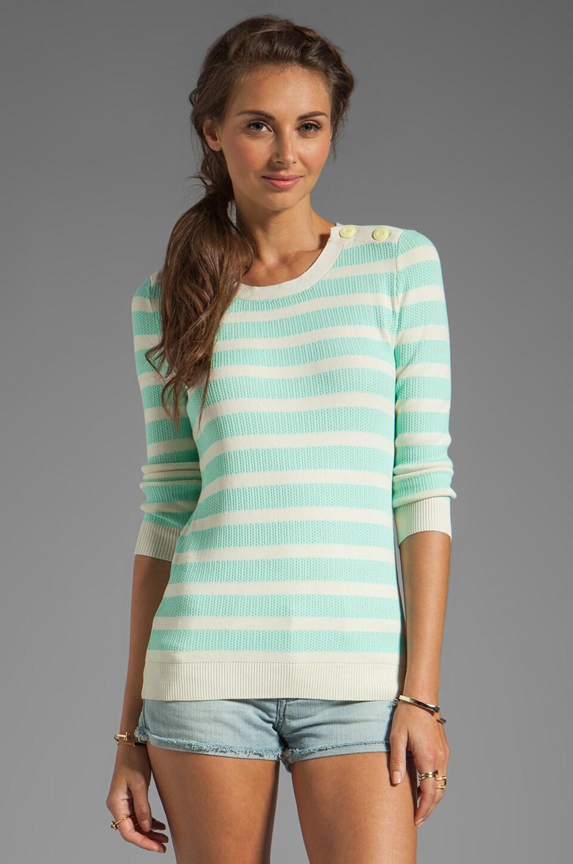 Shoshanna Daniela Sweater in Ivory/Pistachio