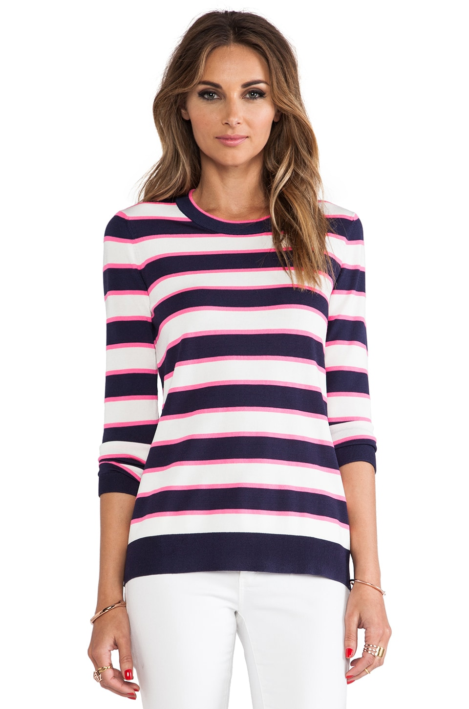 Shoshanna Striped Kim Sweater in Stripe Multi
