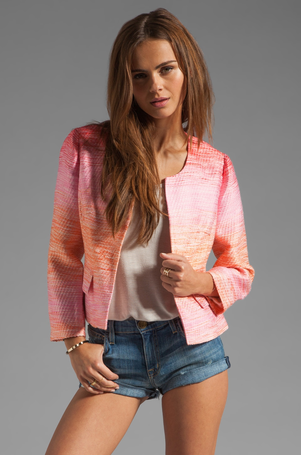 Shoshanna Norabel Jacket in Peach Multi
