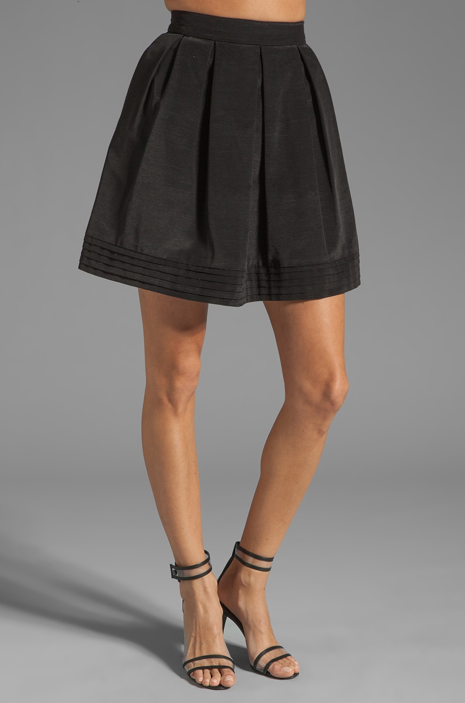 Shoshanna Bengaline Quinn Skirt in Black