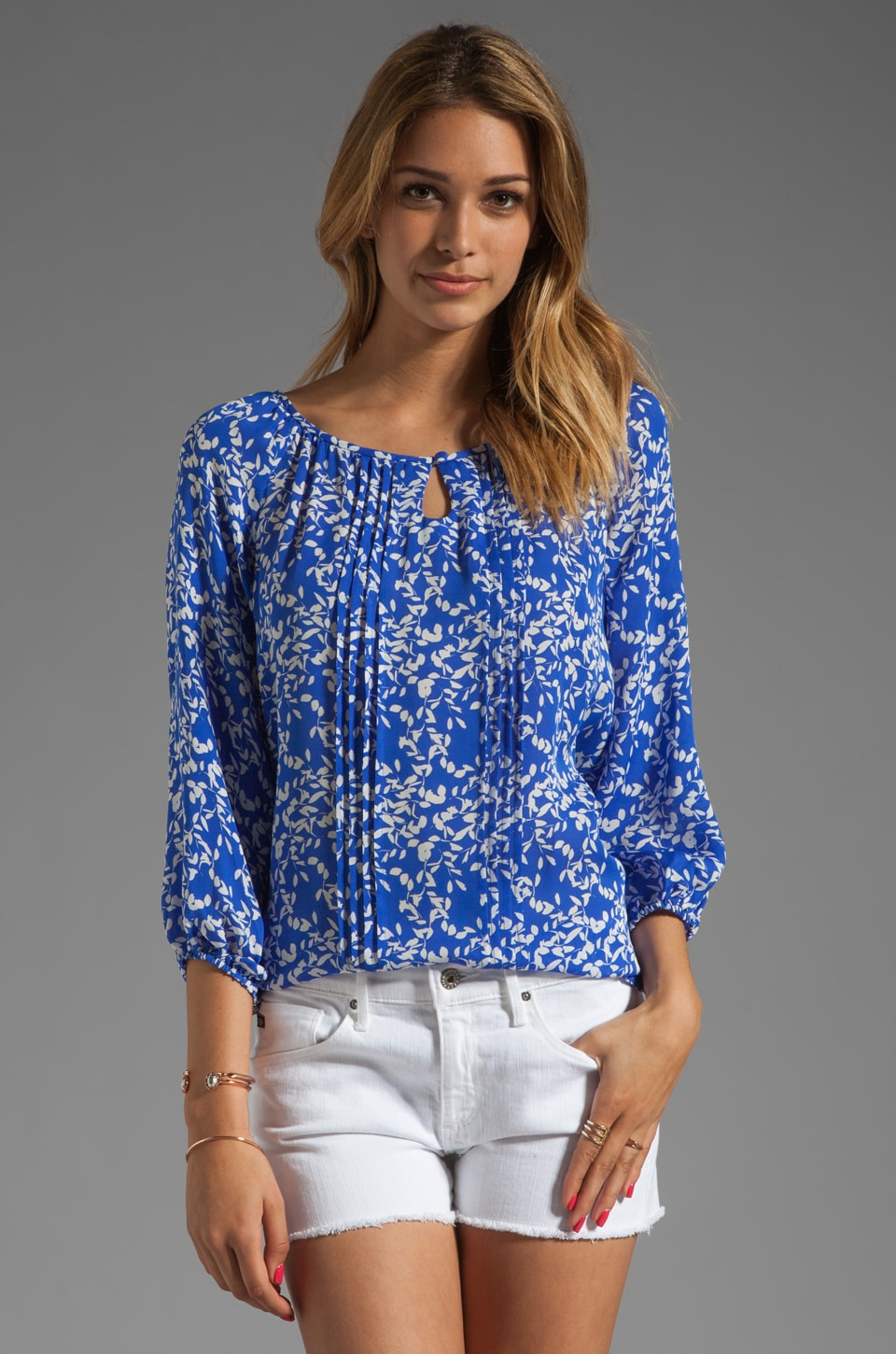 Shoshanna Bailey Blouse in Bluebell/Ivory