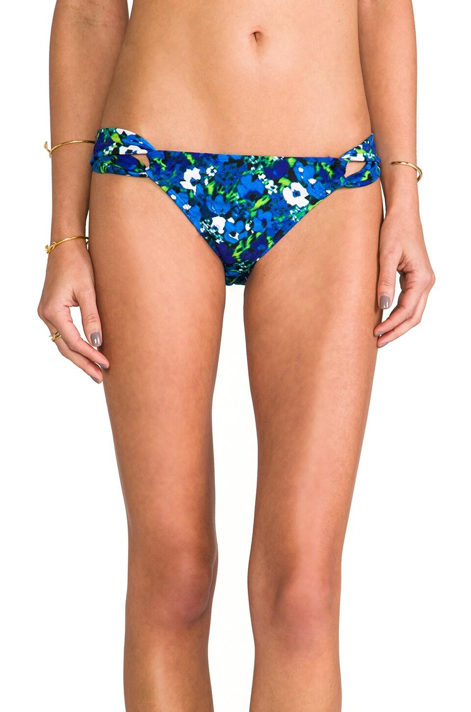 Shoshanna Emmons Floral Bikini Bottom in Cobalt Multi