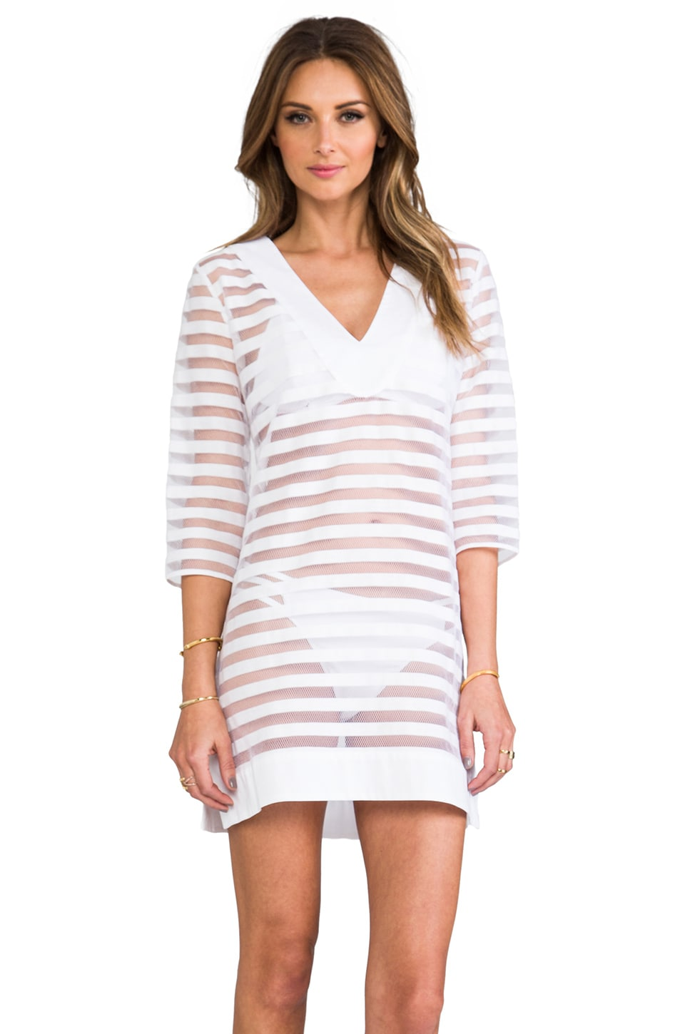 Shoshanna Pizval Stripe Dress in White