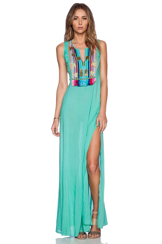055c8261ec8f Shoshanna Rainbow Fringe Maxi Dress in Spearmint | REVOLVE
