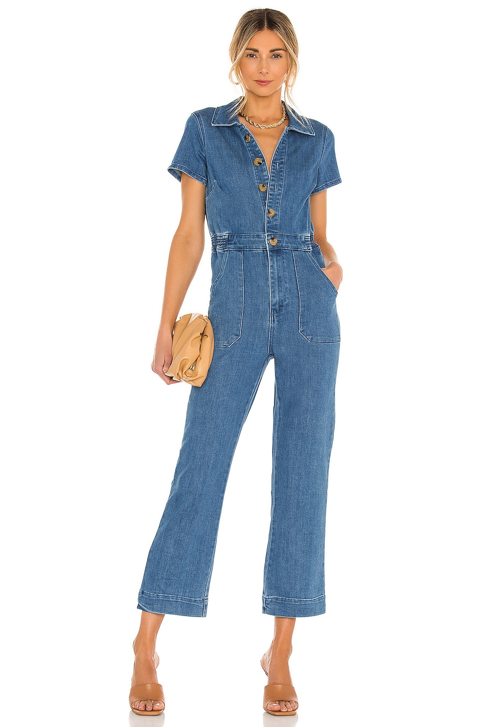 Show Me Your Mumu Emery Jumpsuit in French Blue