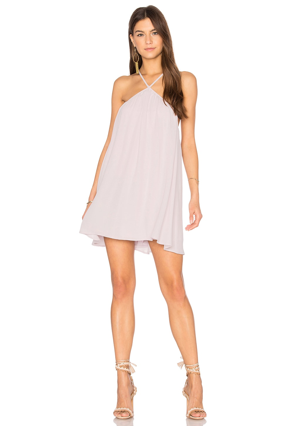 Show Me Your Mumu Lexington Mini Dress in Light Lavender Crisp