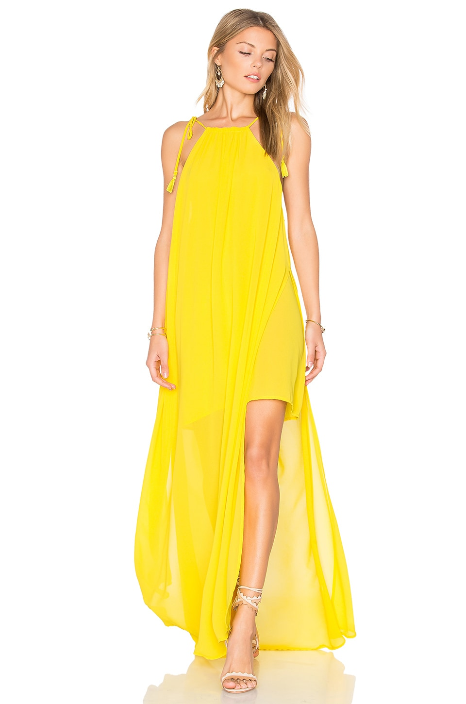 Show Me Your Mumu Rochester Maxi Dress in Daffodil Chiffon