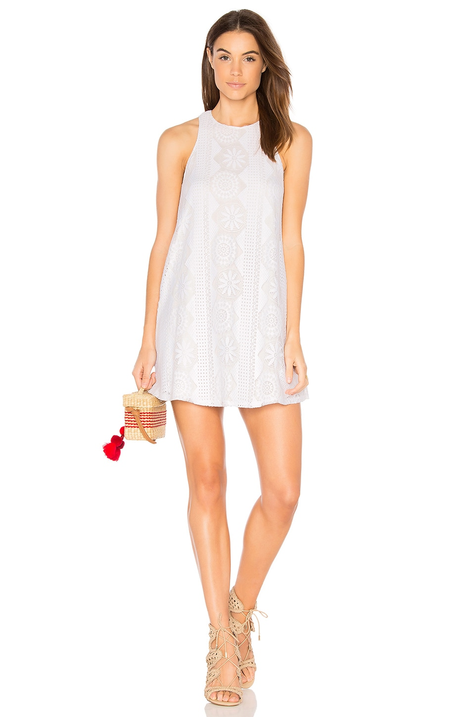 Show Me Your Mumu Ritzy Dress in Flower Power Lace White