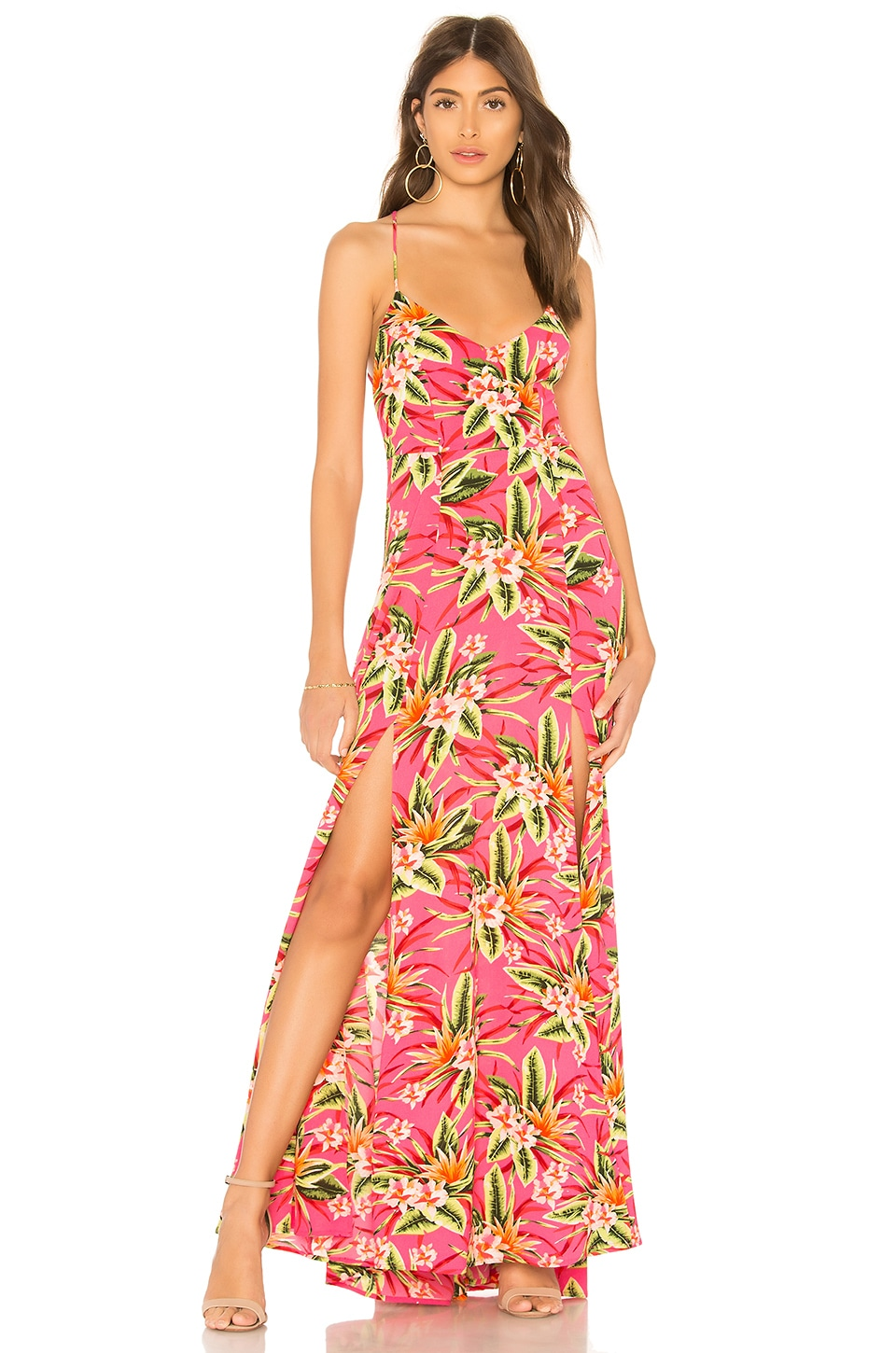 Show Me Your Mumu Nicole Maxi Dress in Truly Tropical Pebble