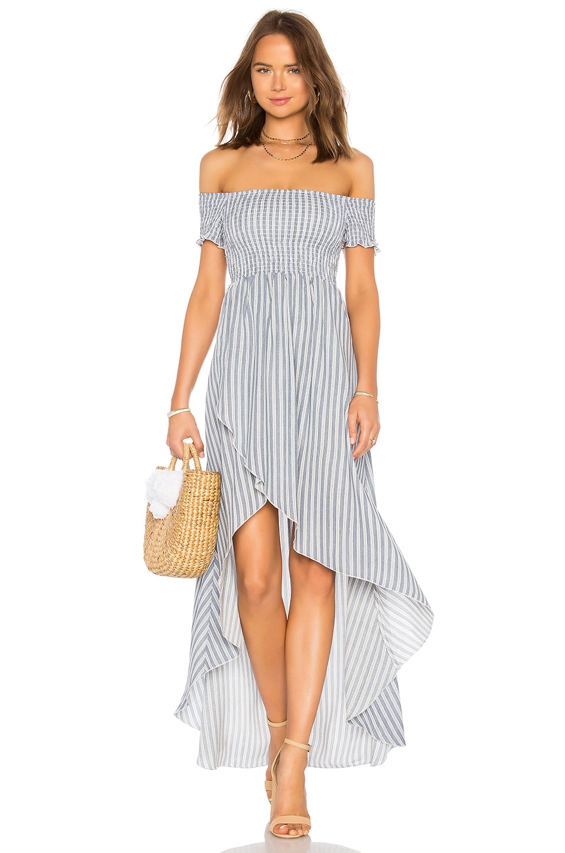 Show Me Your Mumu Willa Maxi Dress in She Sails Stripes Flux